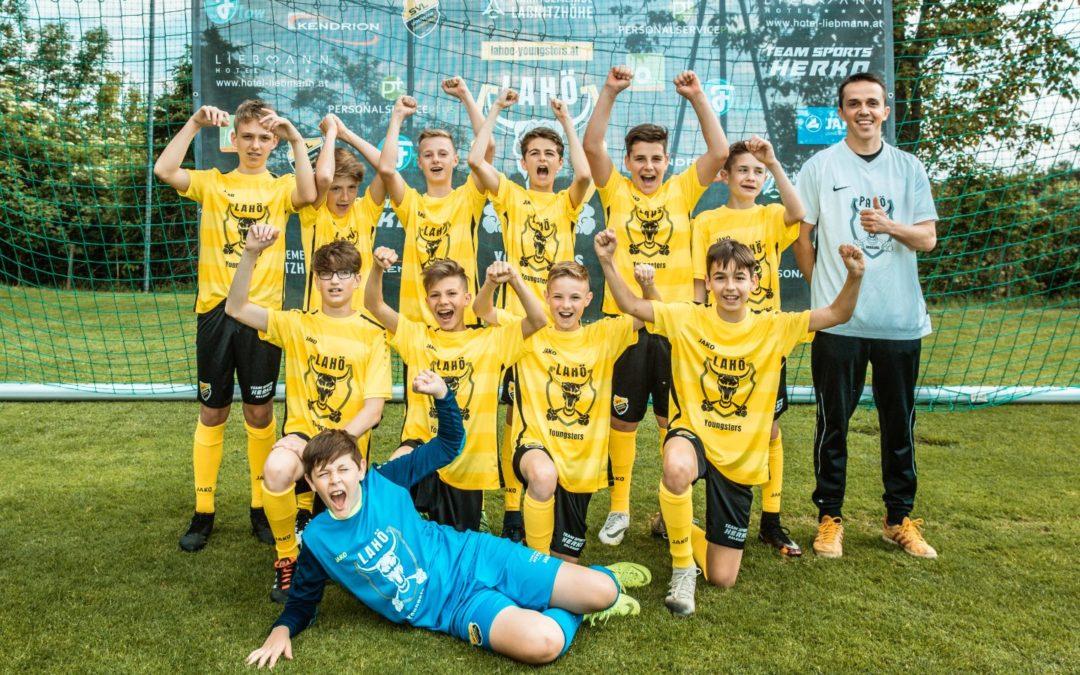 Laßnitzhöhe U13A Jugendfußball Mannschaft 2019 Jubelnd
