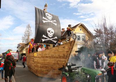 Piratenschiff - Lassnitzhöhe Faschingsumzug 2020